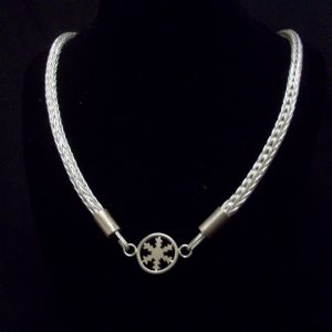 4 Row with Snowflake pendant